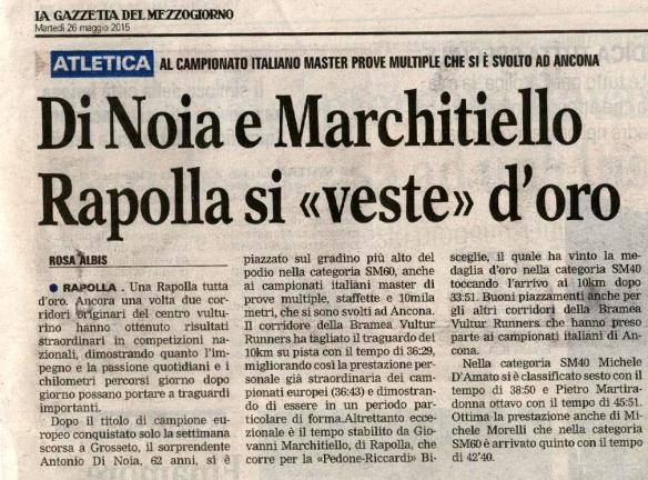 articolo DI NOIA - MARCHITIELLO s f